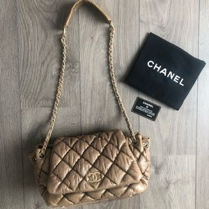 Chanel large bubble Quilt flap shoulder bag
